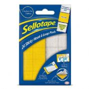Sellotape Home Office - Sticky Hook & Loop Pads (pack of 24)
